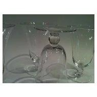 Fostoria wine glasses beautiful candlewick pattern