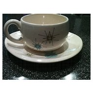 Franciscan Starburst Cup and Saucer 1950's
