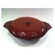 Russel Wright American Modern Bean Brown Covered Casserole