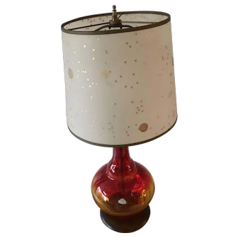 Amberine Blenko Lamp