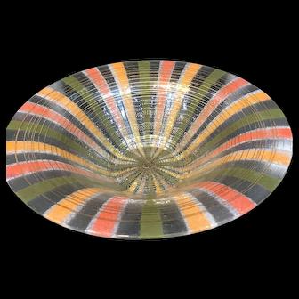 Vintage Higgins Mid-Century Modern Art Glass Bowl
