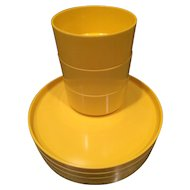 Yellow Heller Dishes by Massimo Vignelli