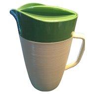 1960's Vintage Raffiaware Thermal Temp Melamine/Melac Plastic Water Pitcher