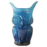 Blue Glass Owl
