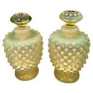 Fenton Hobnail French Opalescent Perfume Set