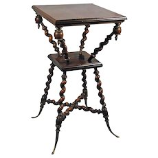 Antique Walnut Parlor Table