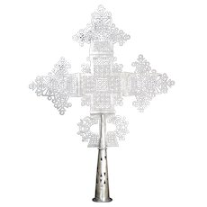 Vintage Silver Ethiopian Coptic Cross