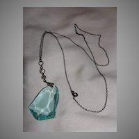 Crystal Aqua Bell Pendant