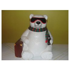 Hollywood or Bust Coke Bear cookie Jar