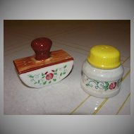 Ink Blotter and Bottle Salt and Pepper Shaker - b28