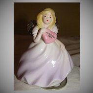 Josef Original 1992 Valentine Angel Music Box - b21