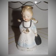 Get Well Angel with Stethoscope - b25