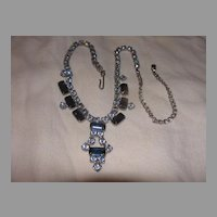 Blue and Bluer Rhinestone Necklace - Free Shipping