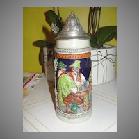 Tall Gerz beer Stein with Drinking Buddies - b29