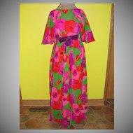 Flower Powered Angel Wing Floor Length Gown