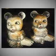 Shifty Eyes Bear Salt and pepper Shakers - b23