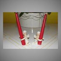 Lusterware Fairy Candleholders - b23