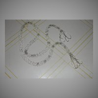 Long, Lean Beaded Lariat with Fringe Necklace - Free Shipping