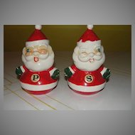 Large Holt and Howard Winking Santa Salt and Pepper Shakers