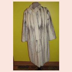 Let's Rub Noses Full Length Black Cross Mink Coat