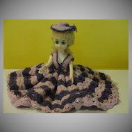 Oh La La Lavender Crocheted Dress Doll - b21