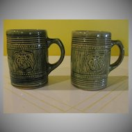 McCoy Green Glazed Grape Design Mugs/Tankards - b26