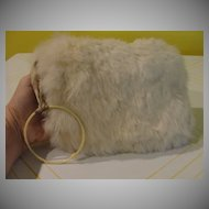 Fit for a Snow Princess Child's White Rabbit Muff - b21