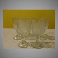 Iris and Herringbone Wine Glasses - b23 - b26