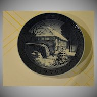 Royal Copenhagen 1976 Watermill Plate - b27