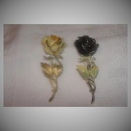 Black BSKand  Yellow Capri Rose PIn - Free Shipping