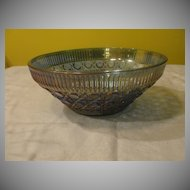 Blue Iridized Glass Bowl - b33
