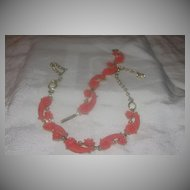 Peach Roses Necklace and Bracelet - Free Shipping