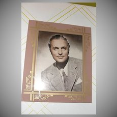 Mauve with Gold Flowers Glass Photo Matte/frame with Roger Clark Photo - b26