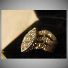Illusion Set Diamond in 14k White Gold - Free Shipping
