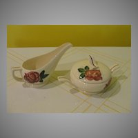 RedWing Lexington Mid-century Creamer and Sugar Bowl