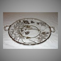 Silver 25th Anniversary Glass Tray - b37