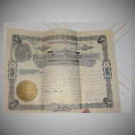 Coeur'd Alene Vulcan Mining Co 80 Share Stock Certificate #562