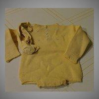 Precious Yellow Baby Romper - b244