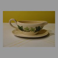 Franciscan ''Ivy'' gravy Boat with Attached Liner
