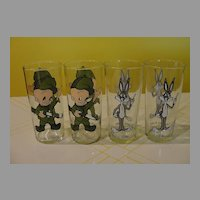 Bugs Bunny or Elmer Fudd 1973 Pepsi Collector Glasses - b31