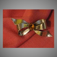 Silver Ribbon tied in a Bow Pin - Free Shipping