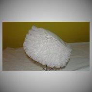 Ruffled Pillbox 60's Hat