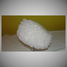 Ruffled Pillbox 60's Hat