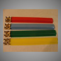 Bright Primary Color Plastic Maj Jong Trays