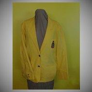 Mellow Yellow Chaus MCMLXXXIX Blazer