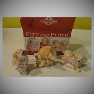 Fitz and Floyd ''Dear Santa'' Puppies - b30