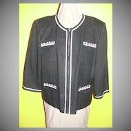 Boucle' Black and White ''Spenser Jeremy''  Jacket  size 16