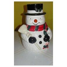 OGGI Snowman with Broom Cookie Jar