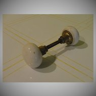 Vintage Porcelain Door Knob Set - b32