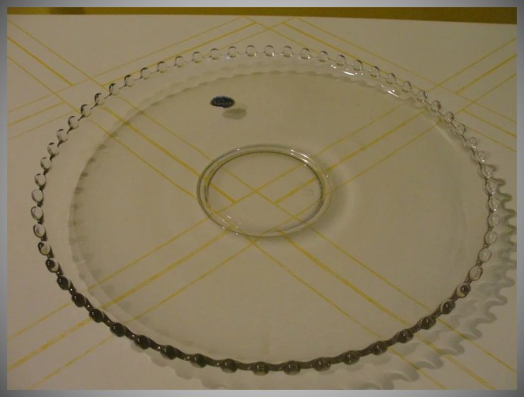 Imperial Glass Candlewick Cupped Torte Plate - b35 & Imperial Glass Candlewick Cupped Torte Plate - b35 : Hodge Podge ...